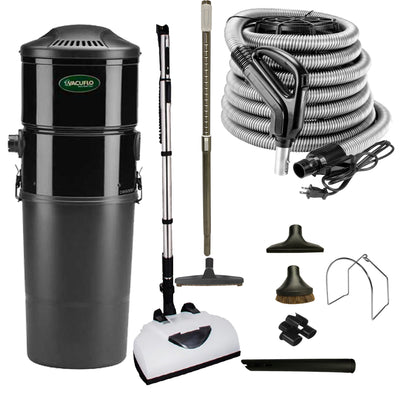 Vacuflo DB5000 Central Vacuum with Deluxe Electric Package - Black