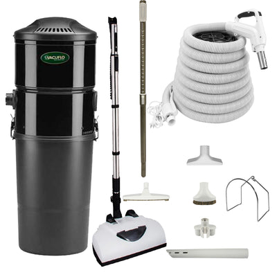 Vacuflo DB5000 Central Vacuum with Deluxe Electric Package - White