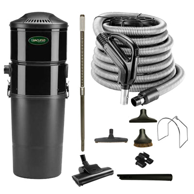 Vacuflo DB5000 Central Vacuum with Standard Air Package - Black