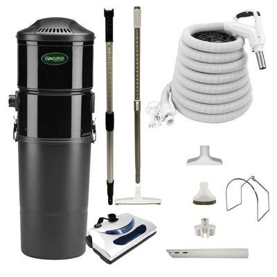 Vacuflo DB7000 Central Vacuum with Basic Electric Package - White