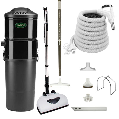 Vacuflo DB7000 Central Vacuum with Deluxe Electric Package - White