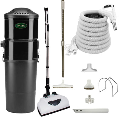 Vacuflo DB8000 Central Vacuum with Deluxe Electric Package - White