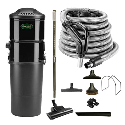 Vacuflo DB8000 Central Vacuum with Standard Air Package - Black