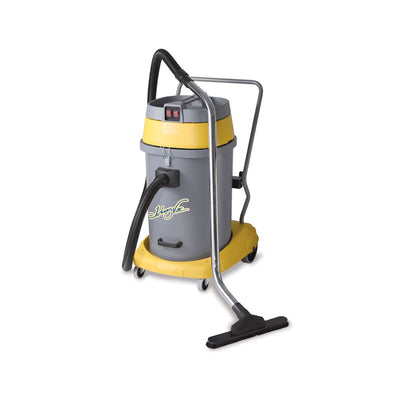 JV59P - Wet & Dry Commercial Vacuum With Tipping Tank - 15 Gal. 2 Motors - Johnny Vac