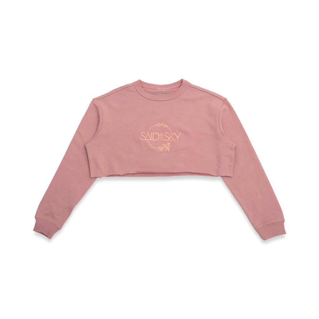 STS Crop Crewneck / Rose