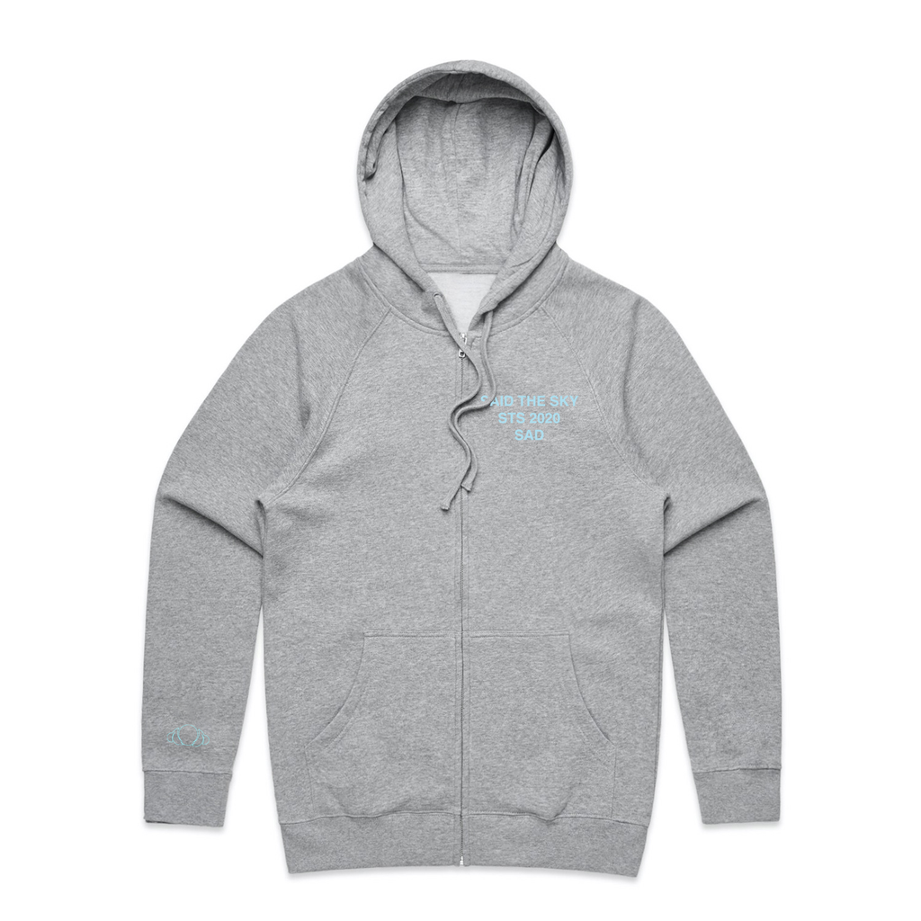 Anti Sadboi Zip Up / Grey