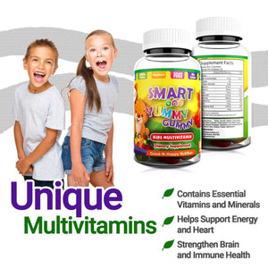 Kids Multivitamin Gummies by Good and Happy Nutrition. Natural, Gelatin-Free Gummy Vitamins for Children. Vegetarian, Kosher, and Non-GMO. 60Ct