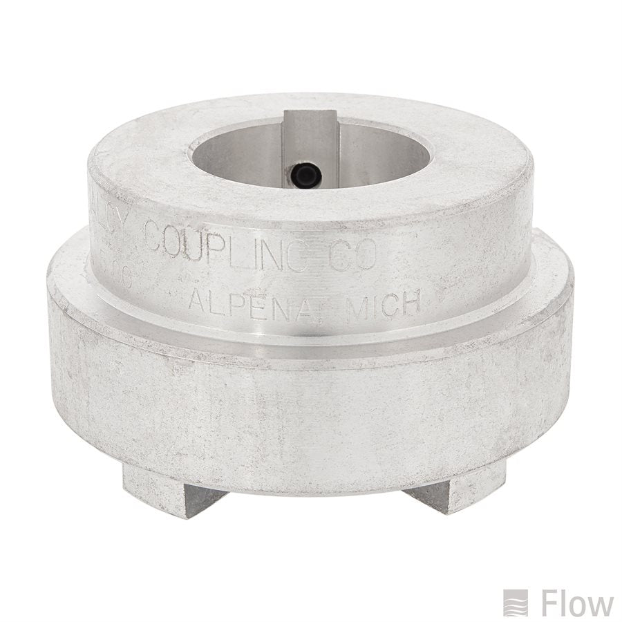 Shaft Coupling With Flange and Keyway