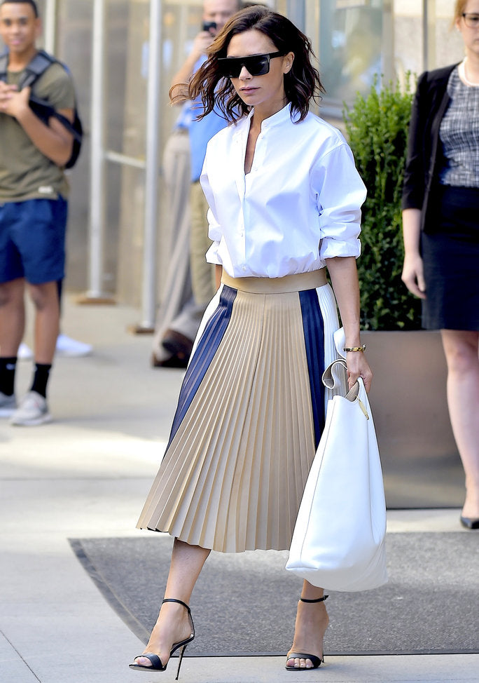 She Is Rebel - victoria beckham - pleated skirt