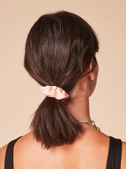 She Is Rebel - Aylin Peach Floral Print Eco-friendly Viscose Hair Scrunchie - Shop Stylish Sustainable Women's Accessories