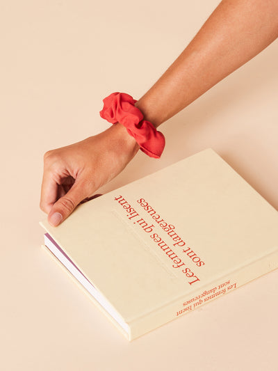 She Is Rebel - Emma Red Eco-friendly Viscose Hair Scrunchie - Shop Stylish Sustainable Women's Accessories
