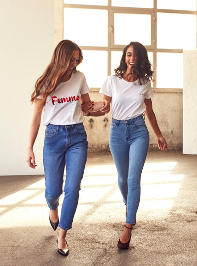 High Rise Skinny Fit Jeans - Shop online women's trousers at She Is Rebel