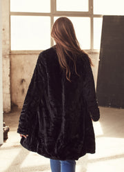 Black Faux Fur Coat - Shop online women's coats at She Is Rebel