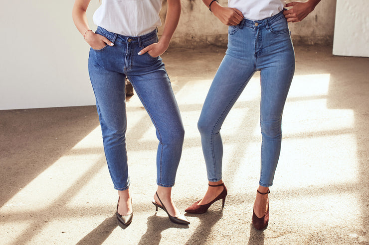 High Rise Slim Mom Jeans - Shop online women's trousers at She Is Rebel