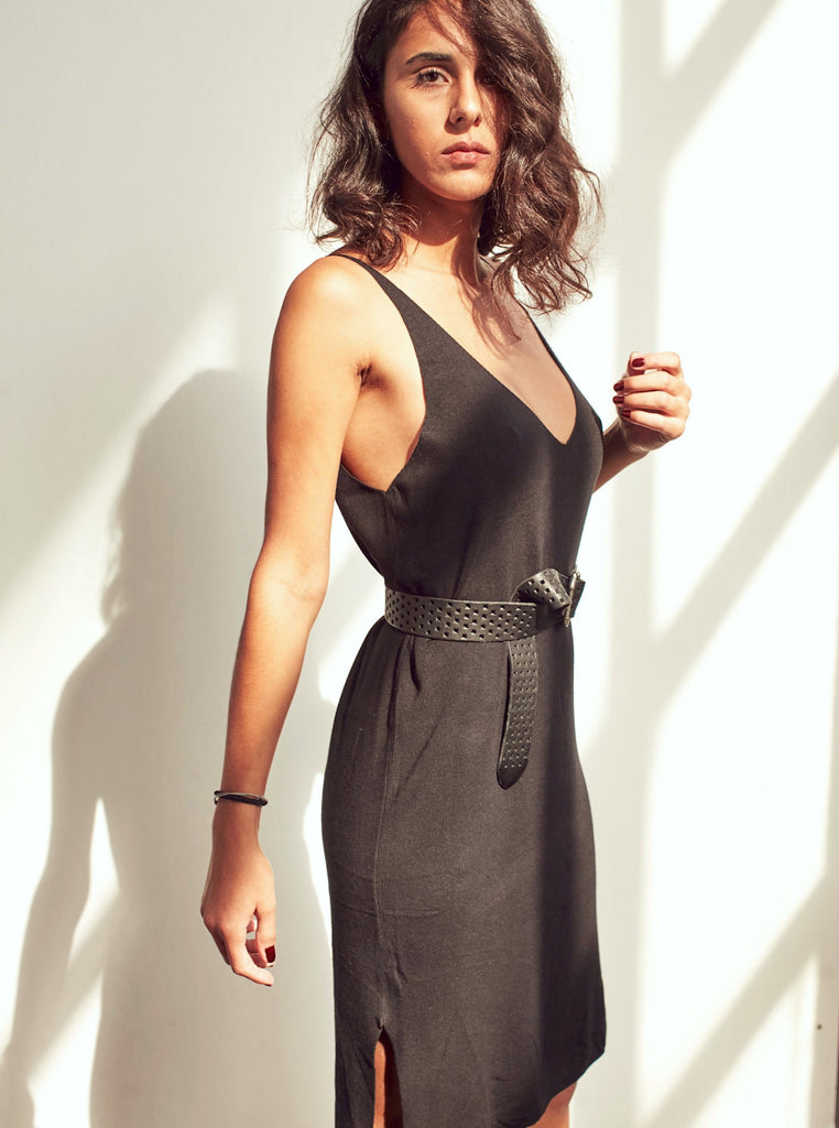 Navy Strappy Knit Midi Dress - Shop online women's dresses at She Is Rebel