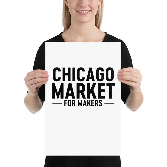 Chicago Market for Makers Poster
