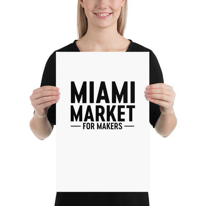 Miami Market for Makers Poster