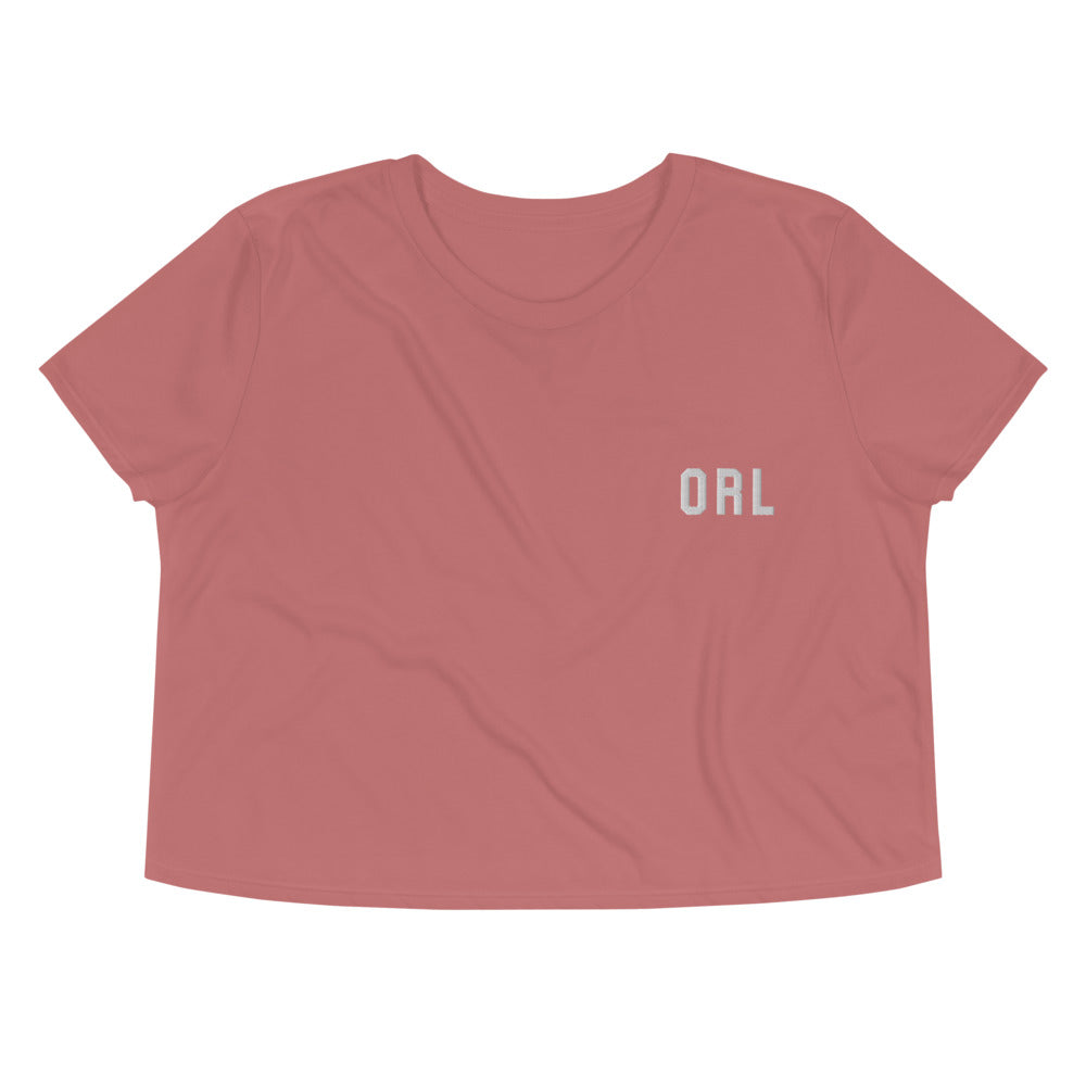 Orlando Embroidered Crop Tee