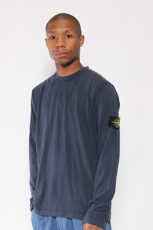 Vintage Stone Island Long Sleeve A/W 10 T-Shirt Blue