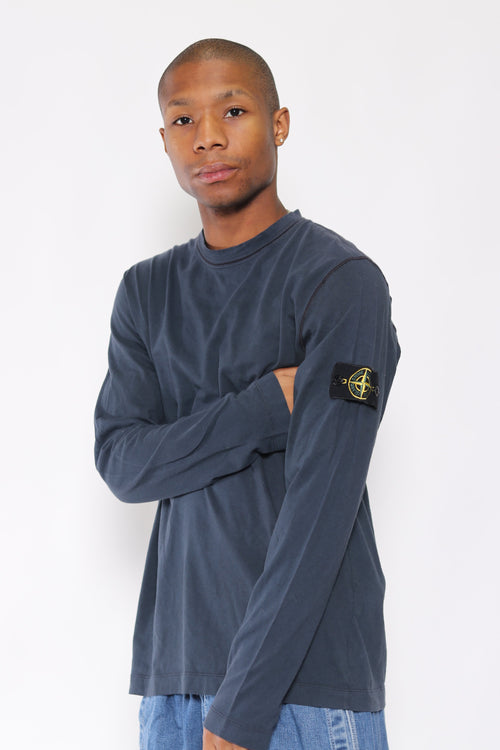 Stone Island A/W 10 Long Sleeved T-Shirt Blue