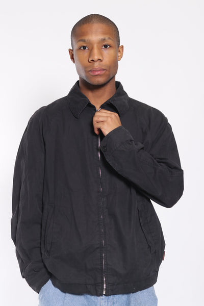 Vintage Moncler Collared Cotton Jacket Black