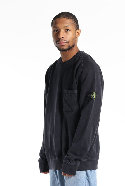 Stone Island S/S 15 Pocket Sweatshirt Blue