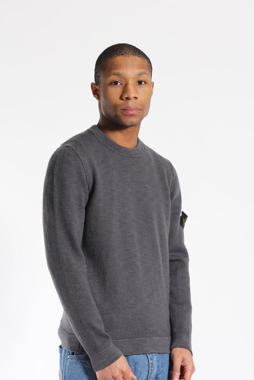 Stone Island Wool Jumper Grey