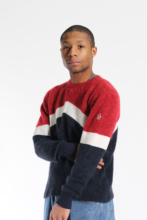 Vintage Moncler Wool Jumper Red