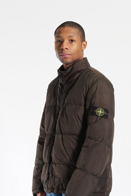 Stone Island A/W 13 Garment Dyed Crinkle Reps Down Jacket Green