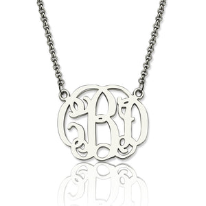Personalized 925 Sterling Silver Monogram Necklace