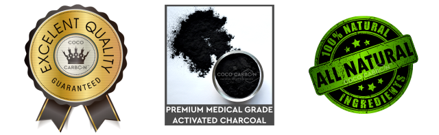 Top Quality, Excellent Quality Guaranteed, Top Brand, Coco Carbon, Premium Medical Grade Activated Charcoal Food Grade, 100% Natural Ingredients