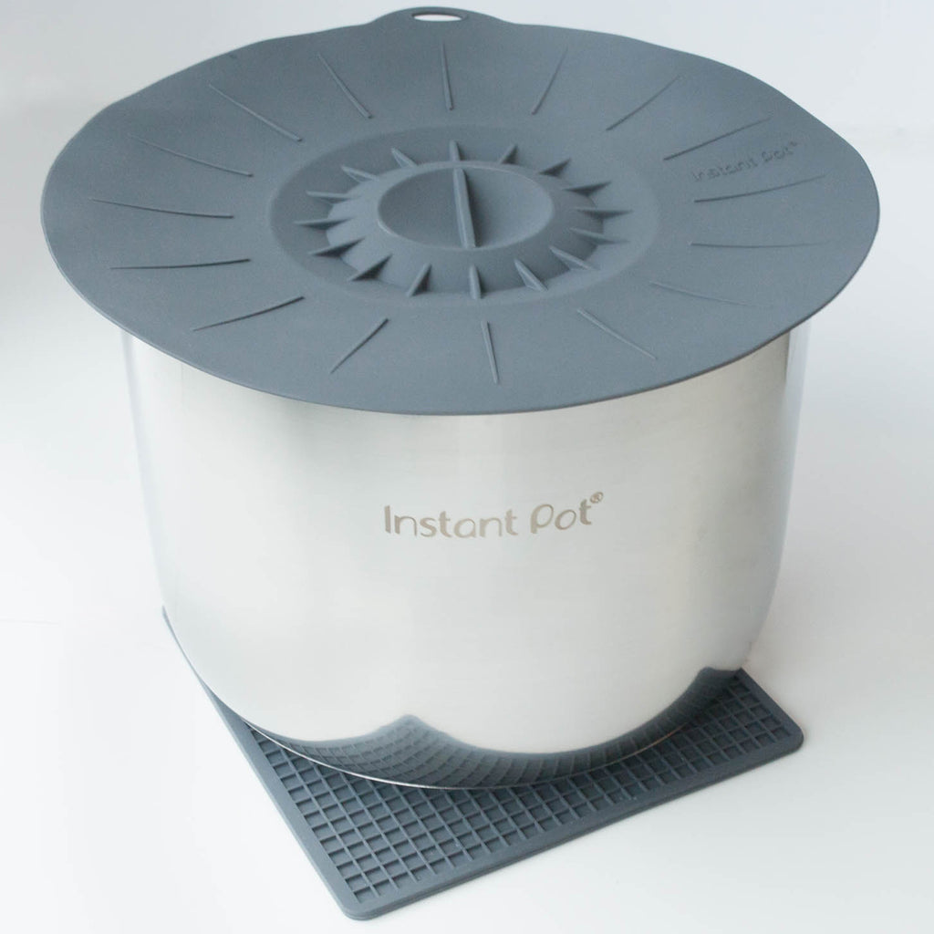 Instant Pot silicone gray lid and heat resistant mat