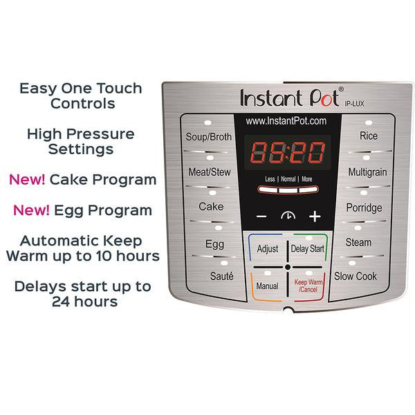Instant Pot Ip Lux 60 V3 6 In 1 Multi Use Programmable Pressure Cooker 6 Quart Instant Brands Inc Canada