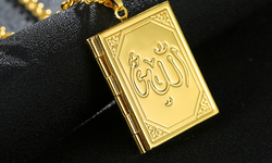Free Real 18k Gold Plated Allah Necklace Fashion Jewelry