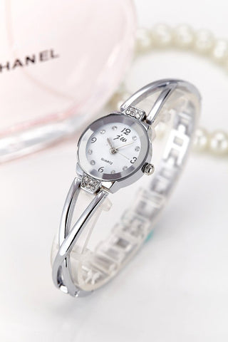 Women Stainless Steel Rhinestone Quartz Watch