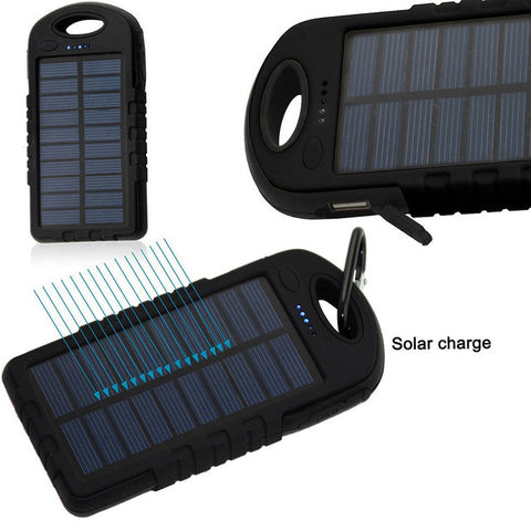 8000mAh Solar Chargers External Battery Pack Solar Power Bank Portable Charger With LED Light