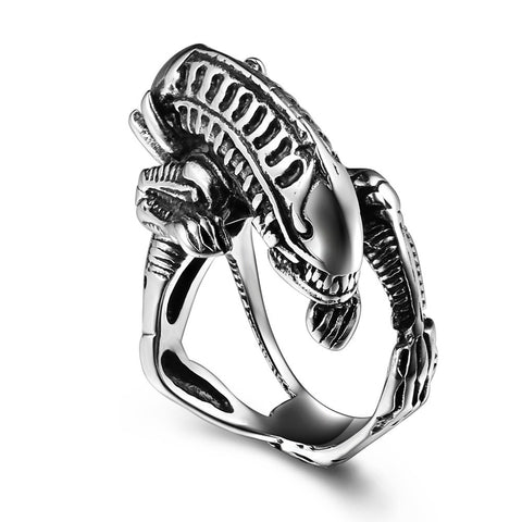 Stainless Steel Alien Ring
