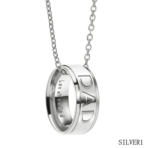 Mom / Dad Stainless Steel  Necklace For  Mother Day'S  Gift