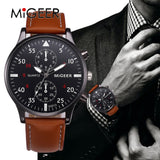 Men's Casual Business Watch With Leather Band