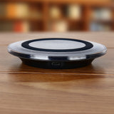 HAISSKY Mini Qi Wireless Charger USB Charging Pad For Samsung Galaxy