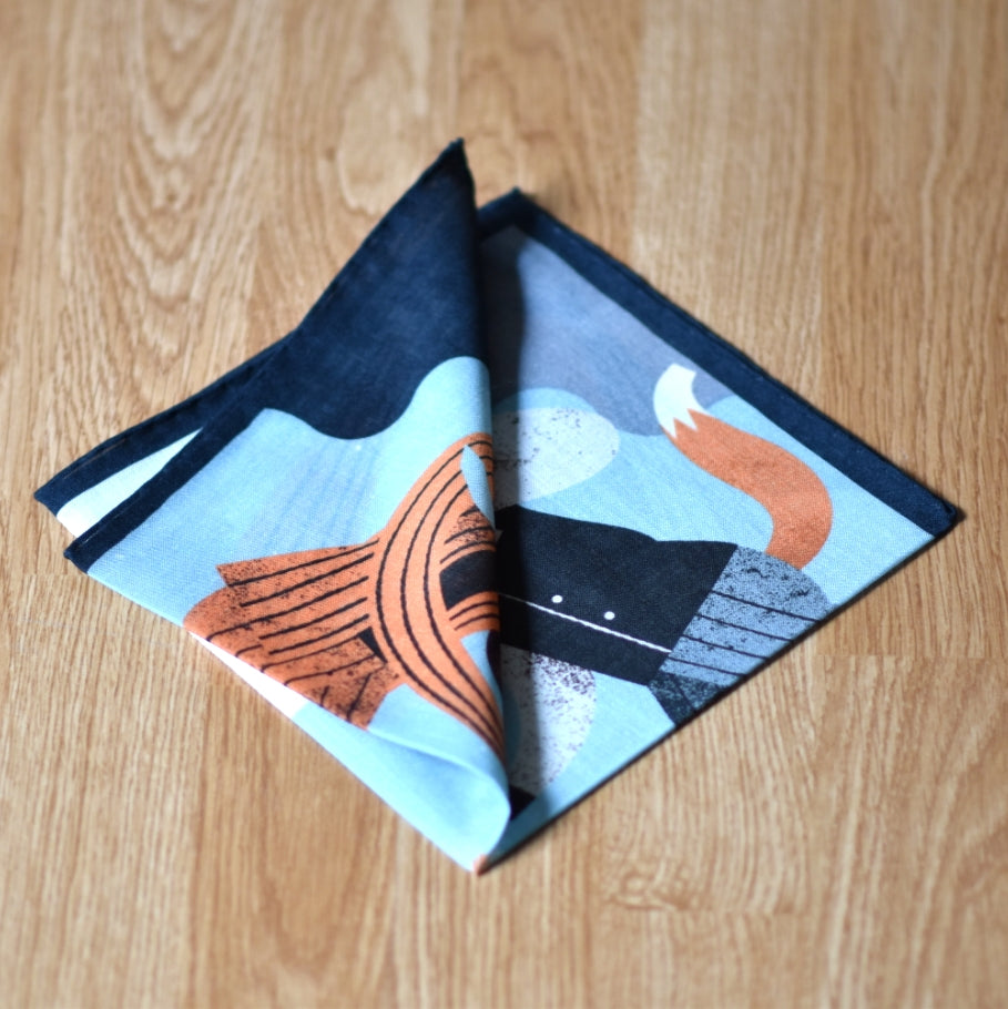THE FOX AND THE MAN POCKET SQUARE