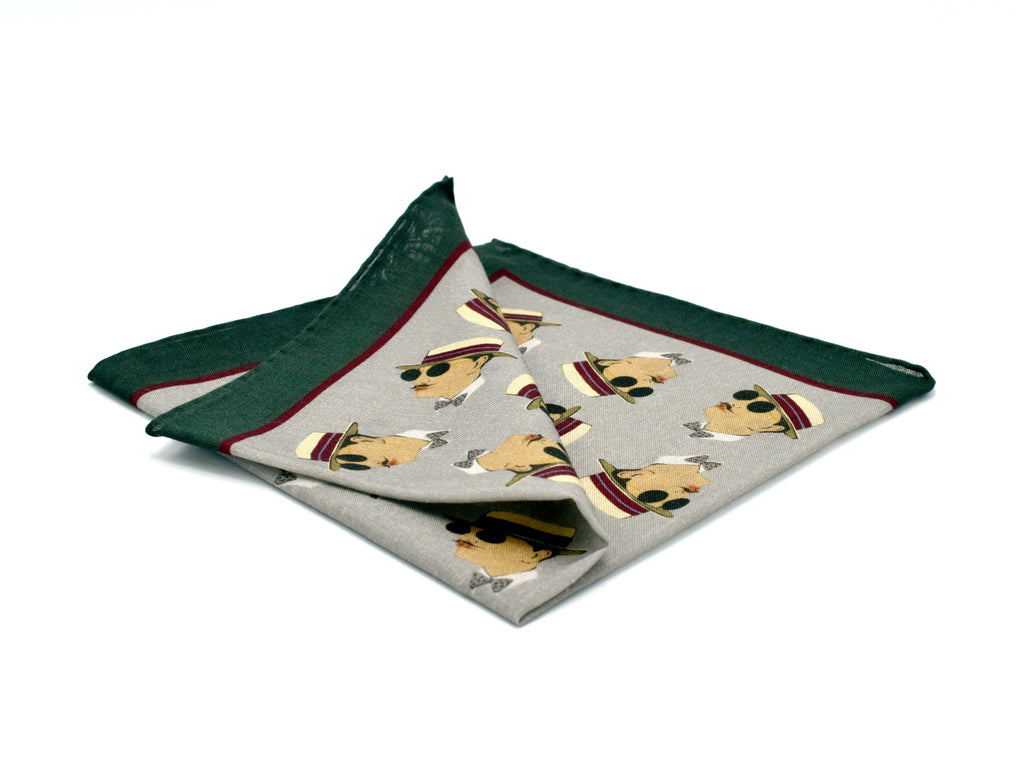 THE HATTER POCKET SQUARE