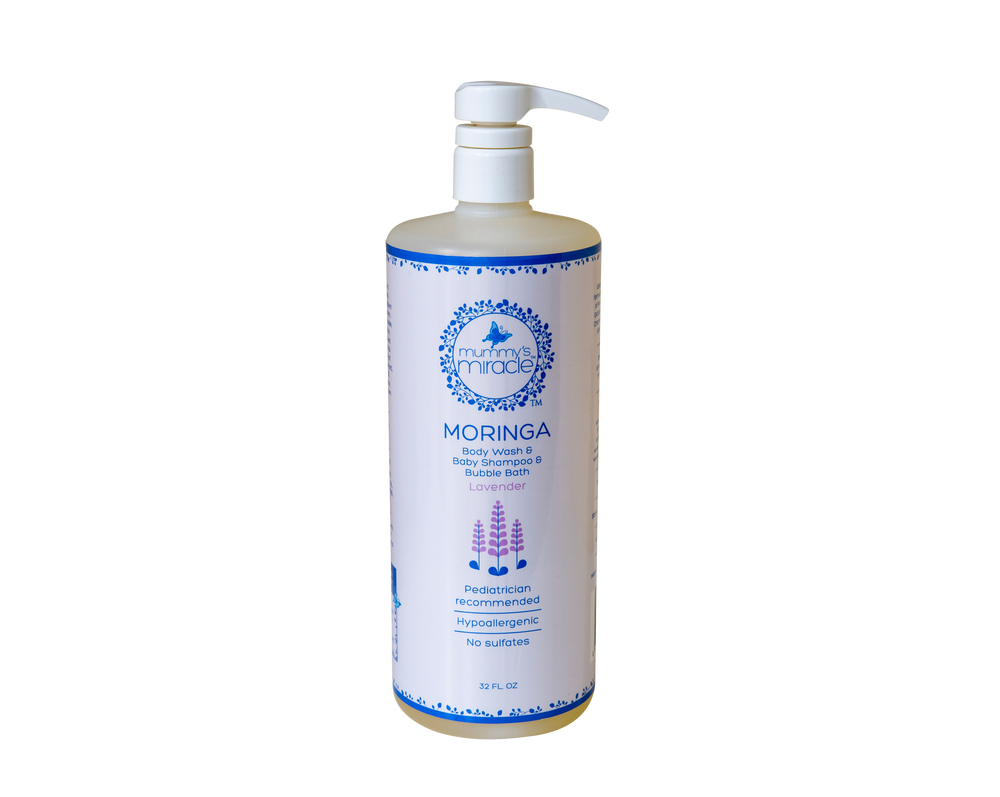 All natural baby shampoo & body wash with moringa lavender scented - Mummy's Miracle