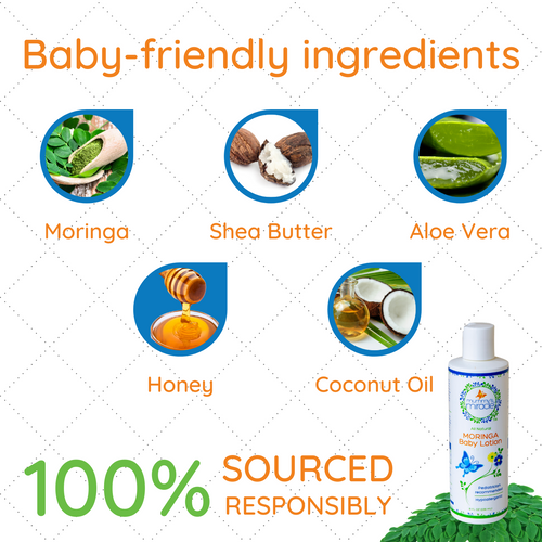 All Natural Moringa Baby Lotion - Original 8oz