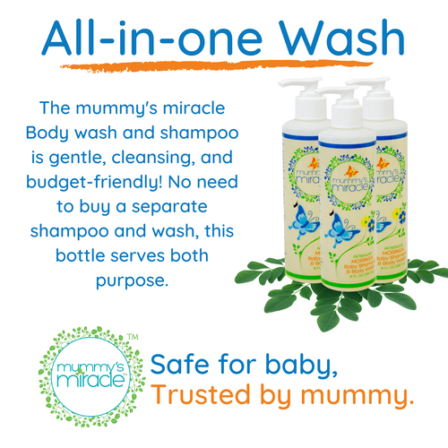 Moringa Body Wash & Baby Shampoo - Original 8oz
