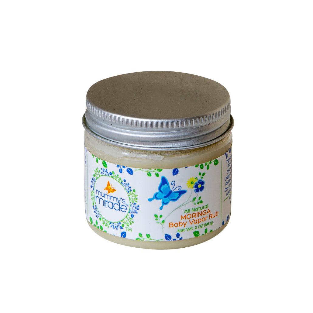 Mummy's Miracle Moringa Baby Vapor Rub 2 oz mild for infants, kids and adults with sensitive skin