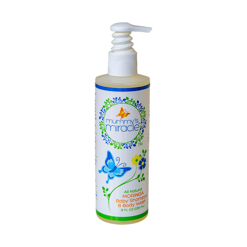 All natural baby shampoo & body wash with moringa