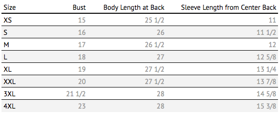 just keep livin womens size chart