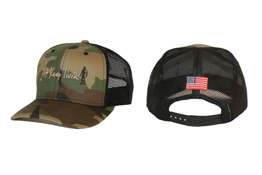 950 Camo Trucker ~ SOLD OUT...coming back this fall