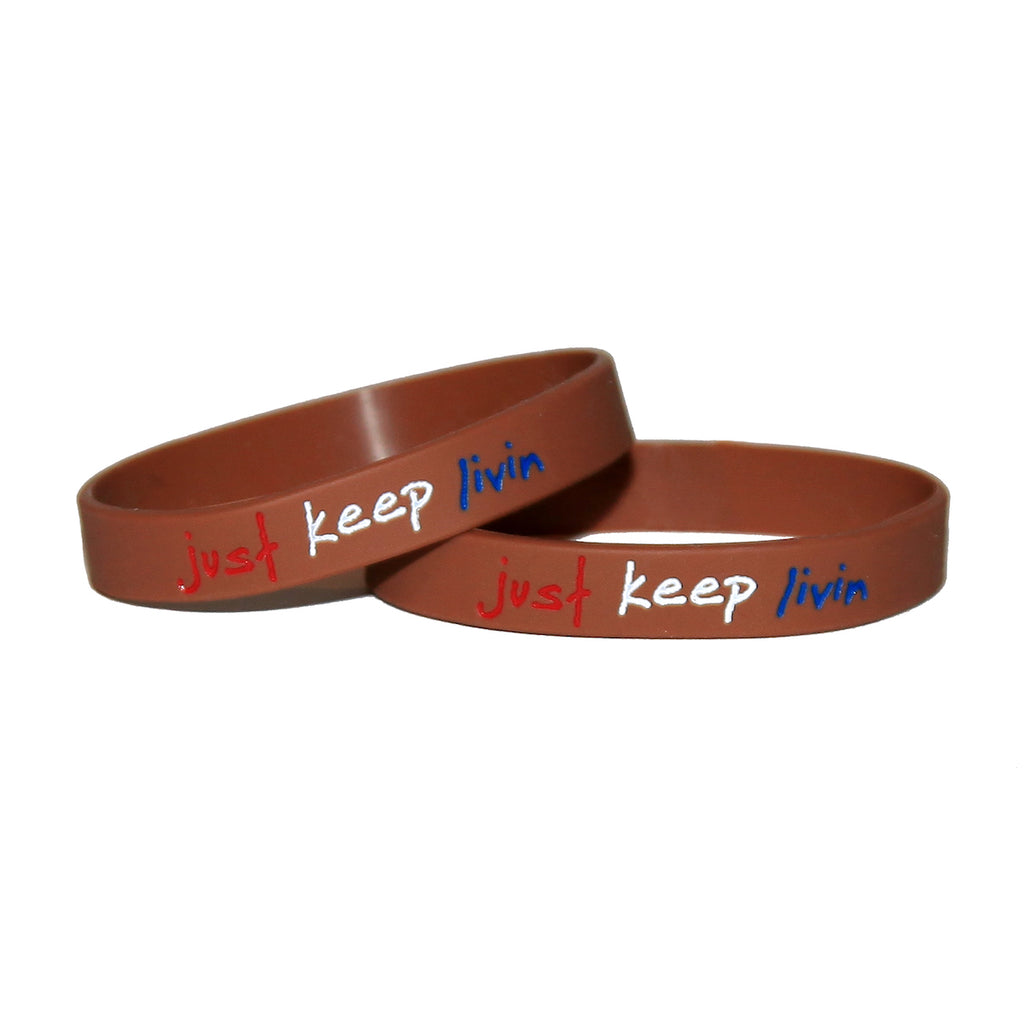 just keep livin wristband